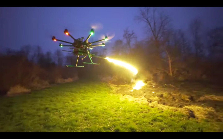 Flamethrower Drone